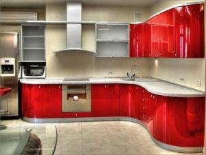 фото кухни, крашенный фасад