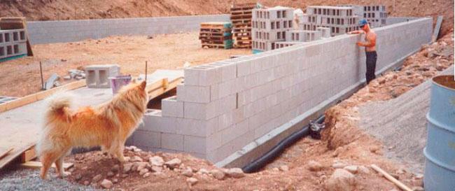 Блочные стены - технология изготовления