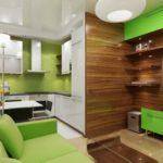 фото кухонные гарнитуры со столом на маленькой кухне