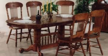 Резные столы и стулья фото