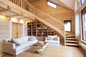 резная деревянная лестница
