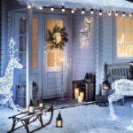 Украшение сада и двора к Новому году