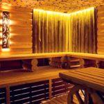 Cветодиодные светильники в бане